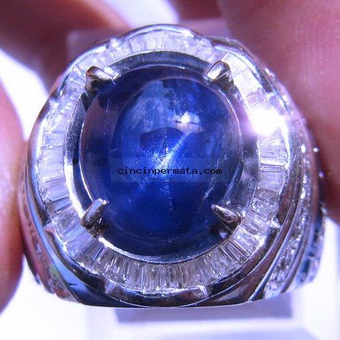 batu cincin permata blue safir star cincinpermatacom