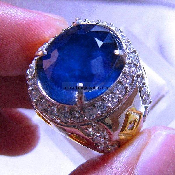 batu permata blue safir cutting cincinpermatacom jual