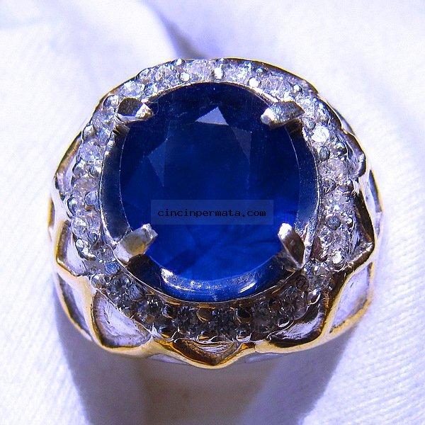 batu permata blue safir sa065 cincinpermatacom jual