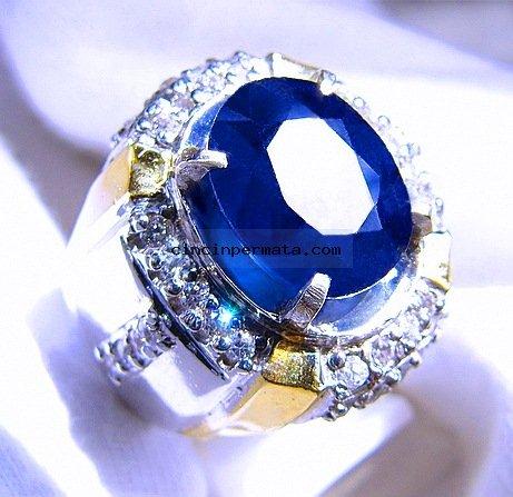 batu permata, cincin permata, batu mulia BATU PERMATA BLUE SAPPHIRE