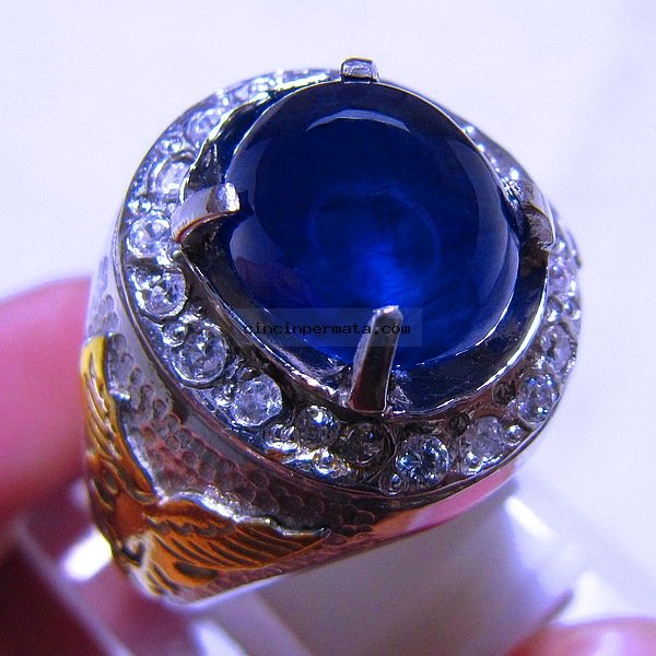 ... , cincin permata, batu mulia BATU PERMATA CINCIN ROYAL BLUE SAFIR