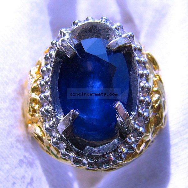 cincin permata, batu mulia CINCIN BATU MULIA BLUE SAPPHIRE SA027