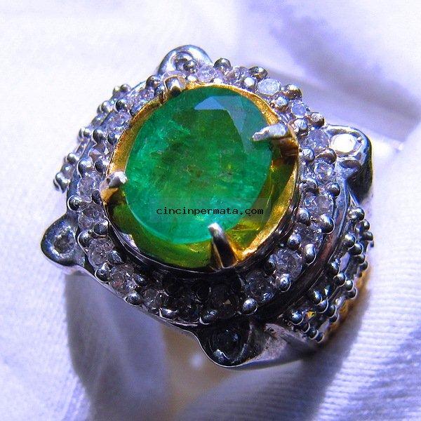 batu permata, cincin permata, batu mulia CINCIN BATU PERMATA ZAMRUD