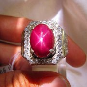 batu permata, batu mulia, cincin permata BATU CINCIN NATURAL RUBY STAR PIGEON BLOOD