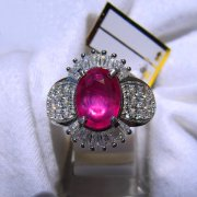 batu permata, batu mulia, cincin permata BATU PERMATA SWEET RED RUBY LADIES RING