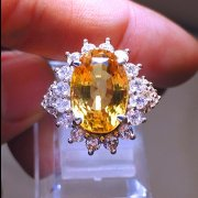 batu permata, batu mulia, cincin permata BEAUTIFUL LADY RING CITRINE BERSERTIFIKAT