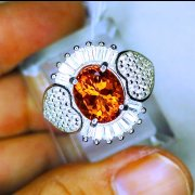 batu permata, batu mulia, cincin permata LADIES RING ORANGE CITRINE