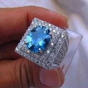 batu permata, cincin permata, batu mulia, murah SPARKLING LONDON BLUE TOPAZ TOP COLOUR
